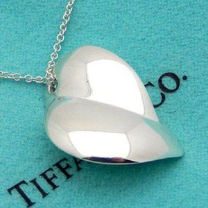 Tiffany & Co. XL Frank Gehry Heart Necklace 925